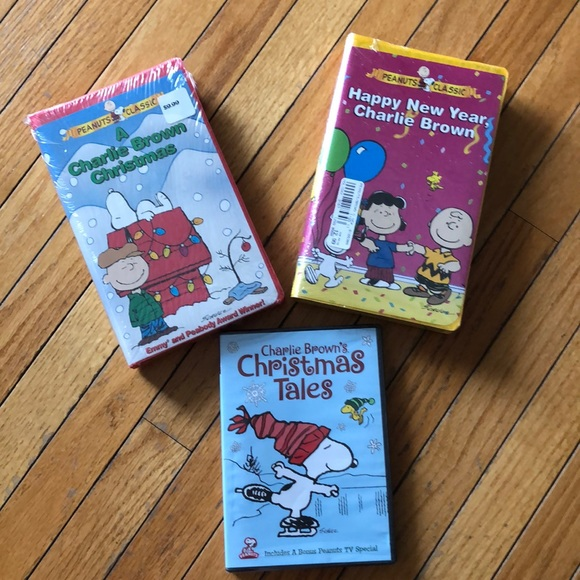 Charlie Browns Christmas Tales.Nwt Peanuts Classic Vhs Tapes 2 And Dvd Nwt